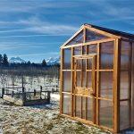 nw green medium outdoor greenhouse 8x8 cedar wood polycarbonate
