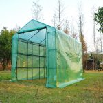 outsunny 8-x-6 outdoor portable walk-in greenhouse