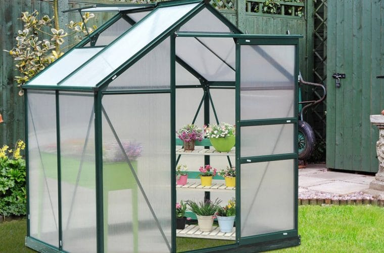 outsunny best small garden plastic greenhouse