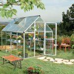 palram hg5508 hybrid greenhouse 6x8x7 silver