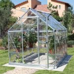 palram industries harmony 6-x-8 greenhouse with starter kit