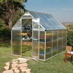 palram nature series mythos hobby greenhouse 6x8x7 silver