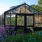 Retro Royal Victorian VI 34 greenhouse with decorative panels and narrow glass