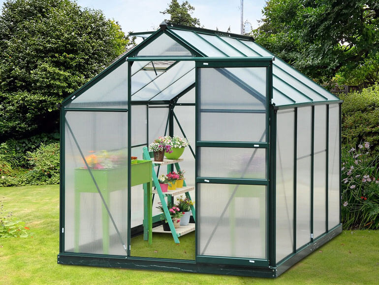 small garden backyard greenhouse outsunny