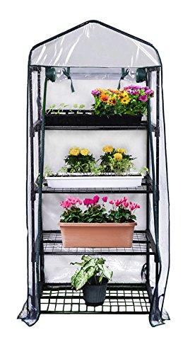 gardman r687 4 tier mini greenhouse 27 x 18 x 63