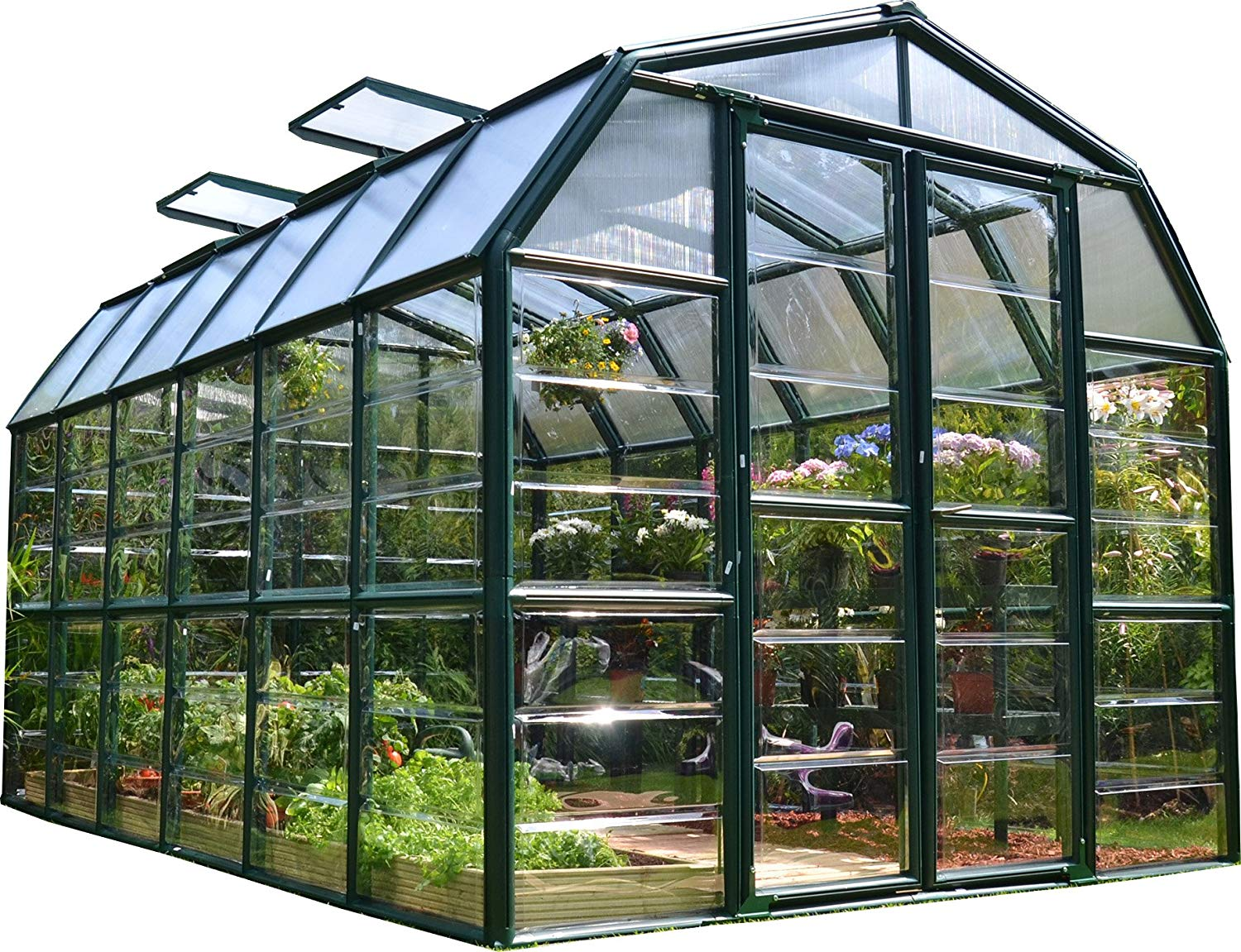 rion grand gardener 2 clear greenhouse 8 x 12