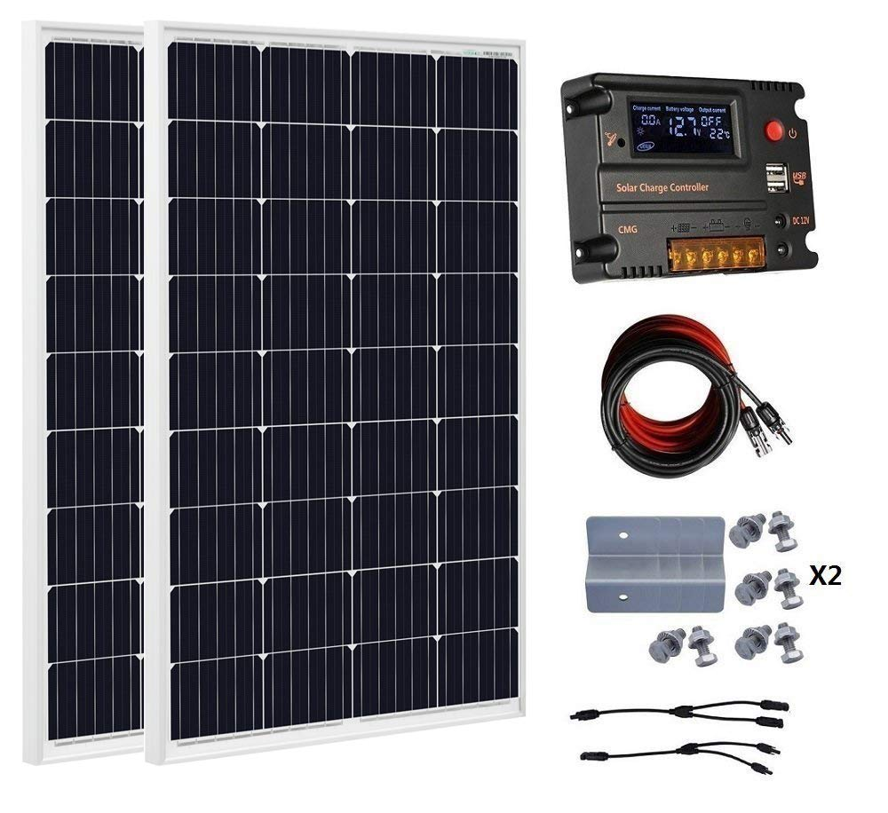 eco worthy greenhouse solar panel heater kit 240 watt 12v solar panel kit