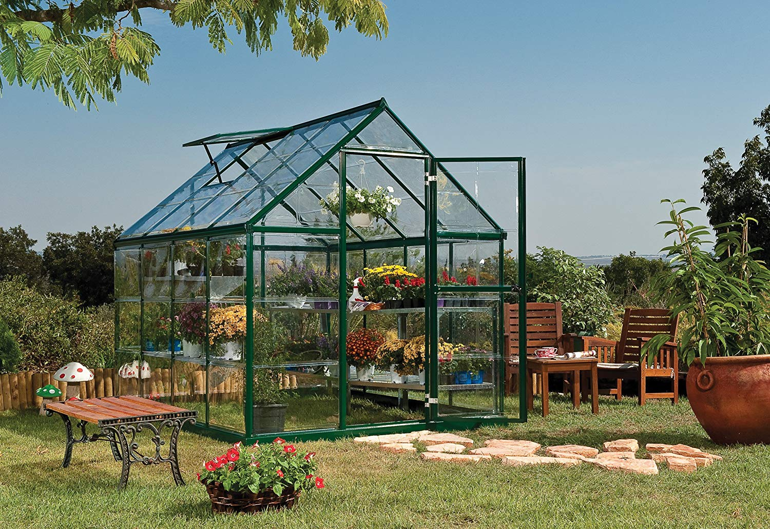 palram nature harmony greenhouse 6 wide x 8 long