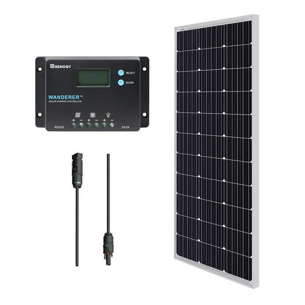 renogy 12v greenhouse solar panel heater kit 100w monocrystalline bundle