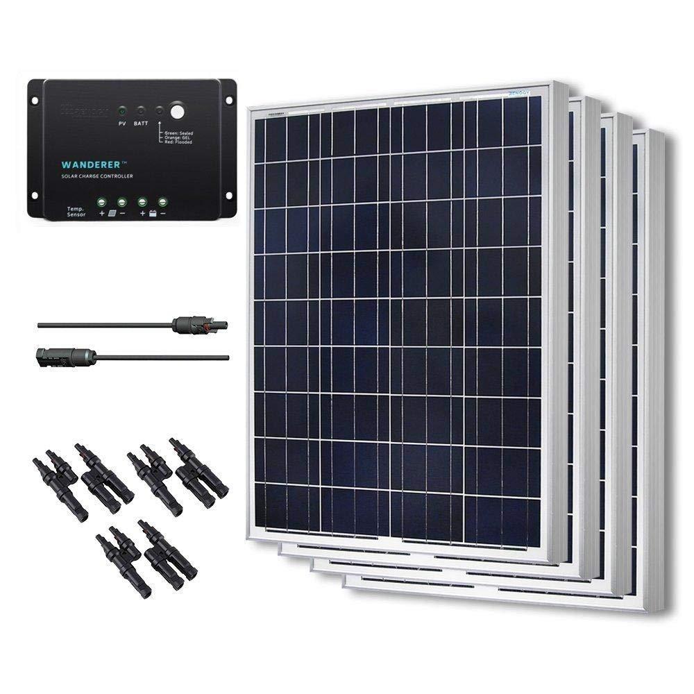 renogy 400w polycrystalline bundle greenhouse solar panel heater kit