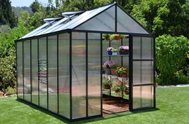 palram glory greenhouse in garden for review